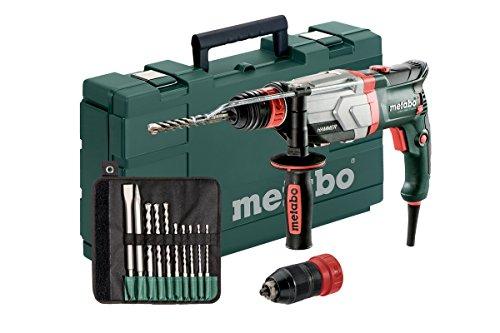 Metabo Multihammer UHEV 2860-2 Quick Set Extrem robust für harten Dauereinsatz- inkl. SDS-plus-Bohrer-/Meißelsatz (10-tlg.)und Koffer 600713510